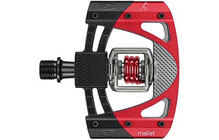 Crank Brothers Mallet 3 Pedal, schwarz/rot